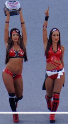 las gemelas más sexys del mundo, las más hermosas divas de la lucha libre en todo el planeta, divas desnudas cuando niñas, nikki bella sensual, brie bella show