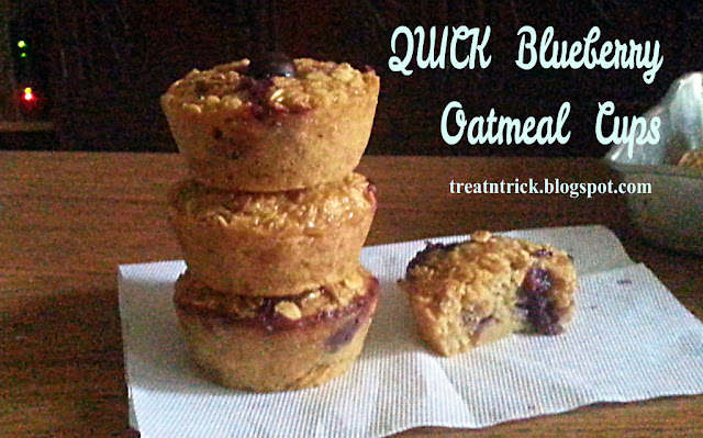 Quick Blueberry Oatmeal Cups Recipe @ treatntrick.blogspot.com