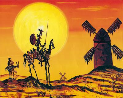 Lienzo de don Quijote y Sancho