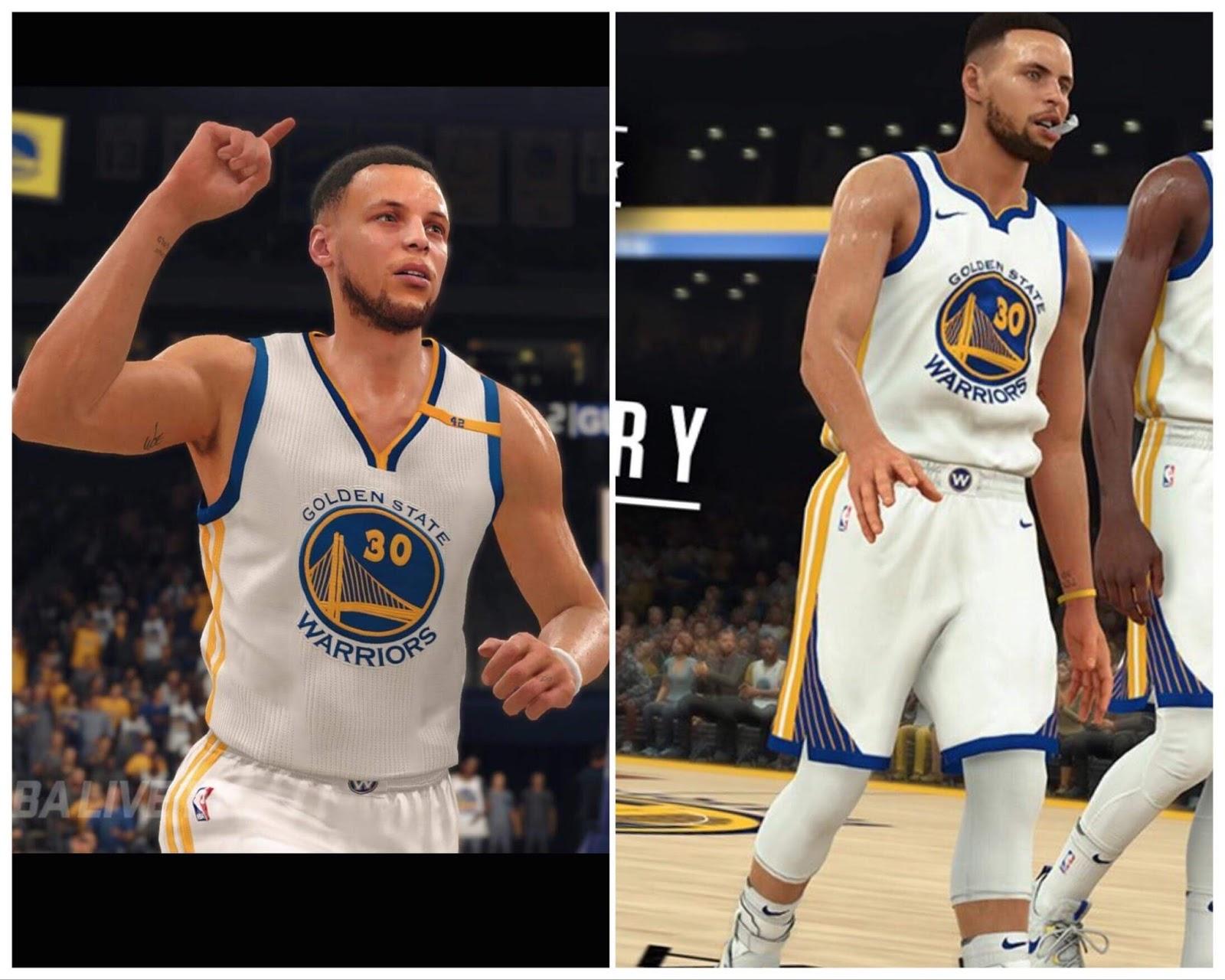Stephen Curry Comparison: NBA Live 18 vs NBA 2k18