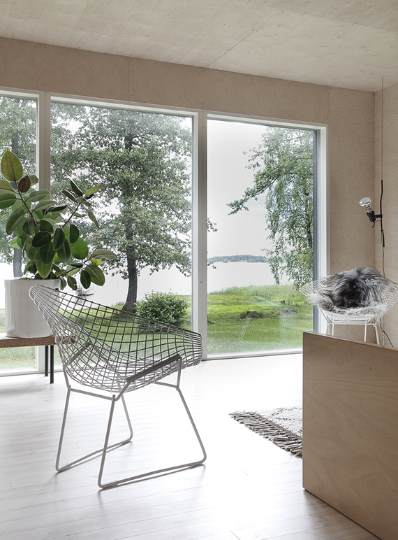 Summer home in Finland with plywood walls by Minna Jones