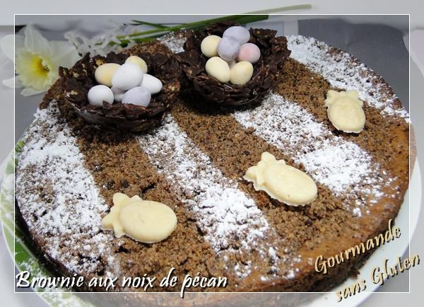 Brownie noix de pécan caramélisées Philippe Conticini