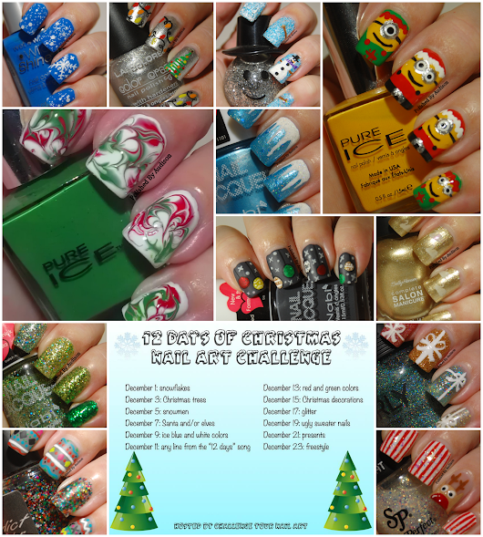 12 Days of Christmas Nail Art Challenge | Round Up Post
