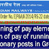 Reckoning of pay element for fixation of pay of running staff in stationary posts in Group 'B' : Railway Board Order (RBE No. 74/2017)