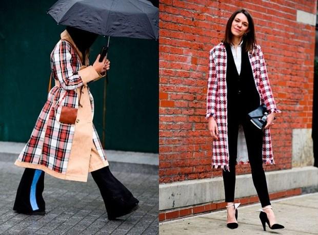 Street Style Fashion Fall Winter 2018 2019: Plaid