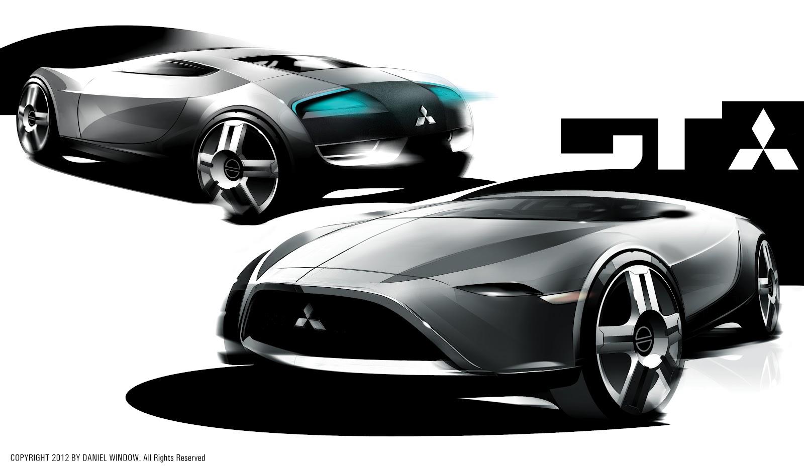 Dan Window Vehicle Design: Mitsubishi Sketches
