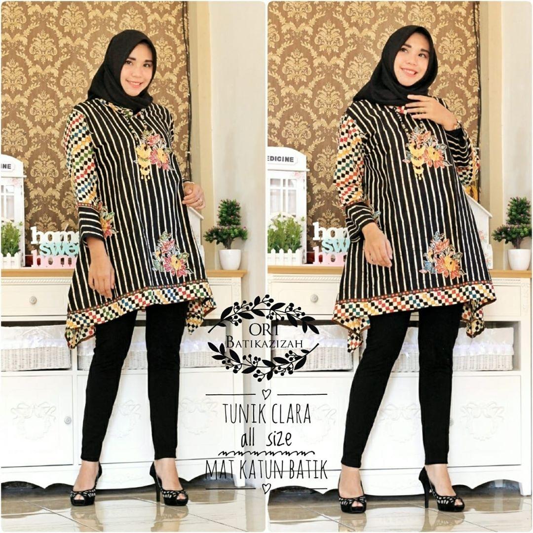 Model Baju Batik Terbaru: 48+ Model Baju Batik Atasan Wanita Terbaru 2019