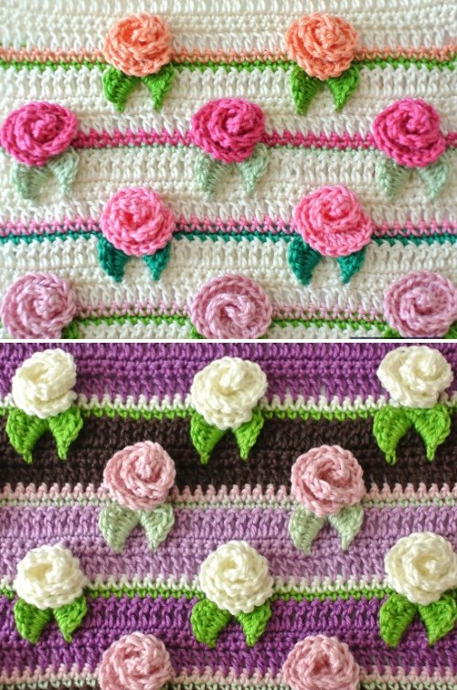 Crochet Rosebud Stitch - Free Pattern & Tutorial