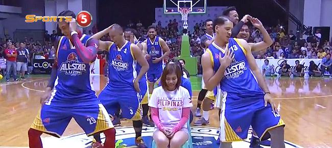 Gilas Pilipinas vs. PBA Luzon All-Stars DANCE Showdown (VIDEO)