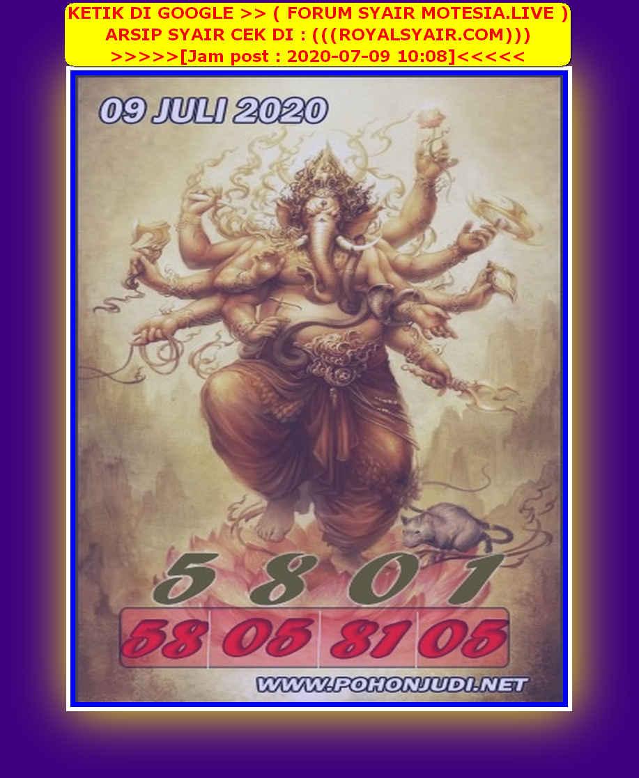 Kode syair Singapore Kamis 9 Juli 2020 190
