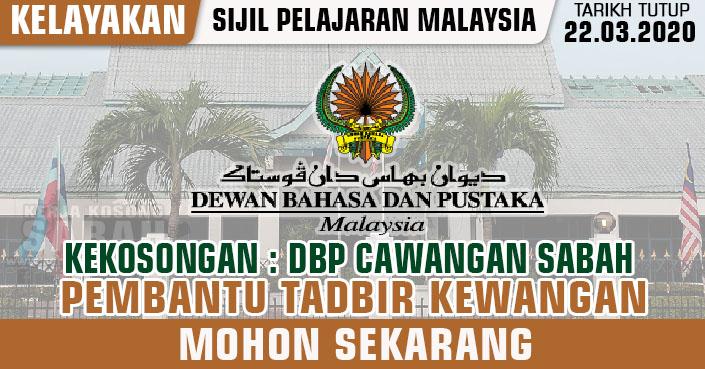 Kerja Kosong Sabah 2020   Pembantu Tadbir (Kew), Gred W19 ...