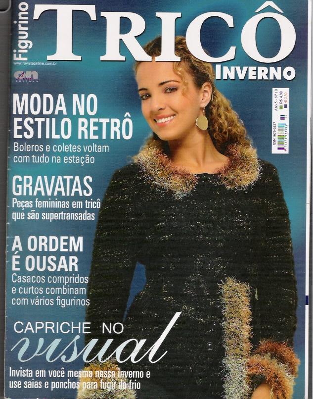 Figurino Tricô Inverno-Revista tricô Completa