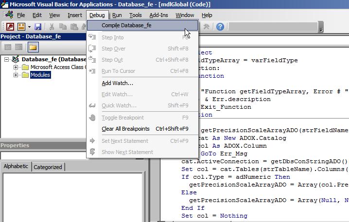 Mengkompile File Database dari Accdb ke Accde di Access 2010