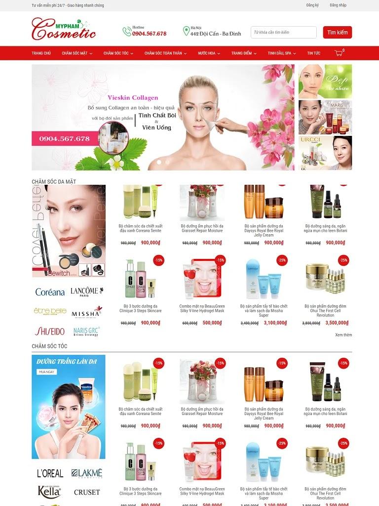 Theme Blogspot mỹ phẩm Cosmetic chuẩn đẹp - Ảnh 1