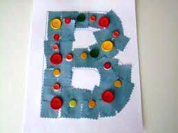 alphabet button craft for kids
