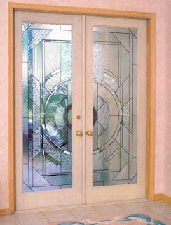 Фацетные витражи для двери