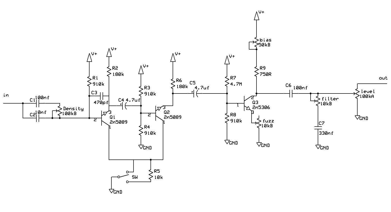 Fuzz Face Wiring Diagram 2001 Drz 400 Box Schematics Tube Preamp Elsavadorla