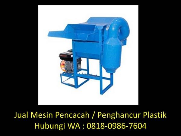jasa pembuatan mesin penghancur plastik di bandung