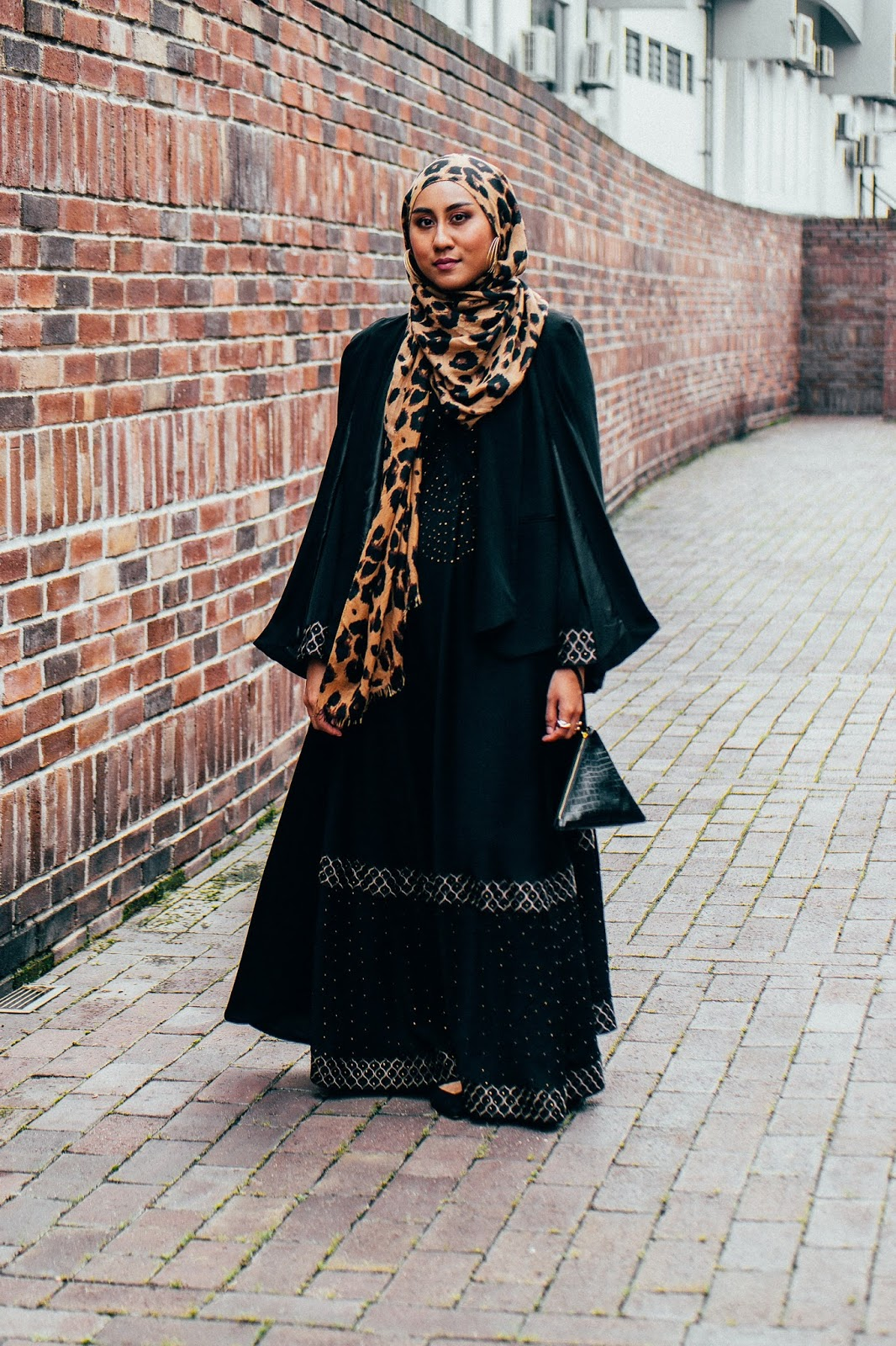 Forever21 Black Cape Blazer Black Studded Abaya Dress