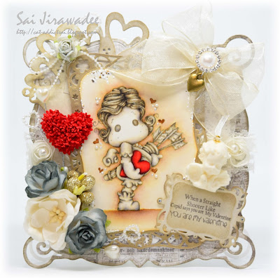 Magnolia You Are My Valentine Tilda Cupid Sculpture