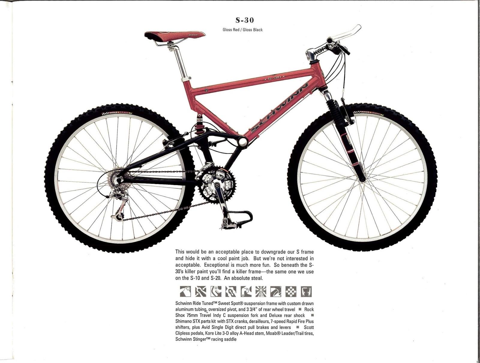 The Old Bike Shop: 1998 Schwinn catalog