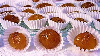 Glazirani (kandirani) kesteni // Sweet coated (crystallised) chestnuts