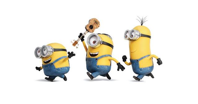 Three Funny minions image