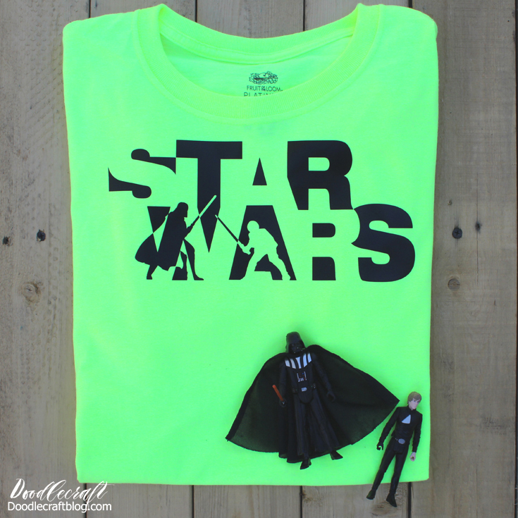 6c7aa412 Star Wars Darth Vader-Luke Skywalker Battle Iron-On Vinyl DIY Shirt!