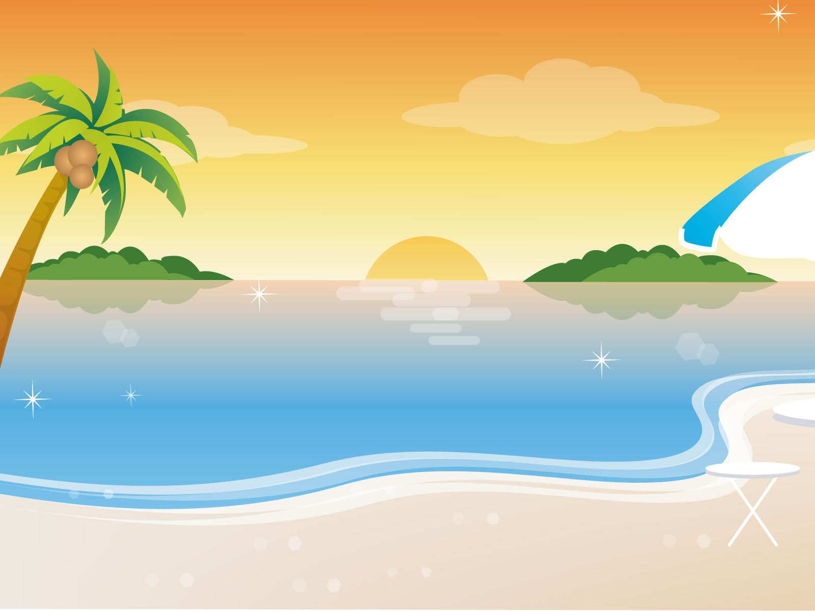 vector beach - best wallpaper