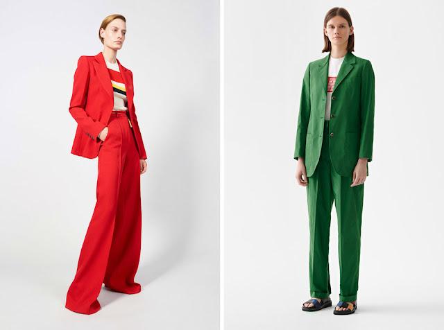 Красный и зеленый костюм