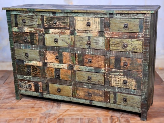 Dishfunctional designs upcycled dressers painted wallpapered decoupaged - Paint wooden dresserwonderful ideas ...