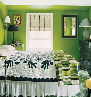 Dormitorios verde limón - Colores en Casa