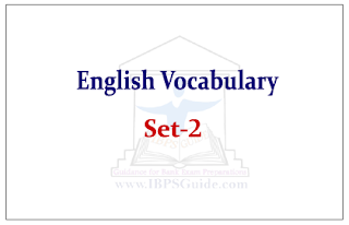 English Vocabulary Set-2