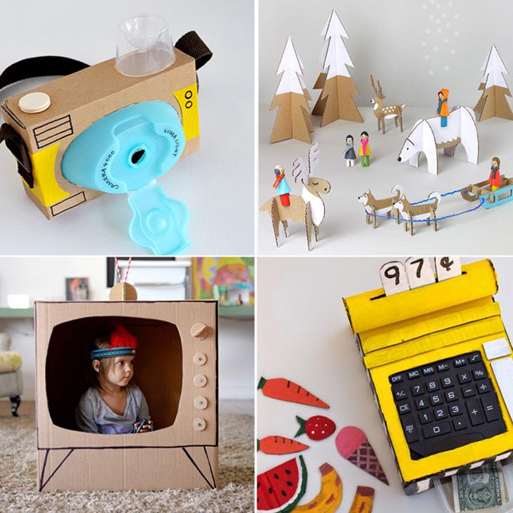 20 bellissimi giocattoli da fare con scatole di cartone da
