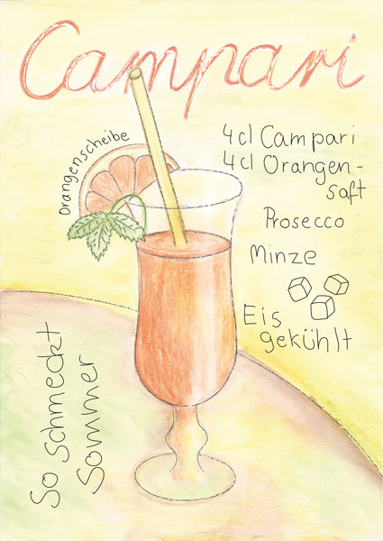 Campari, Illustration, Zeichnung