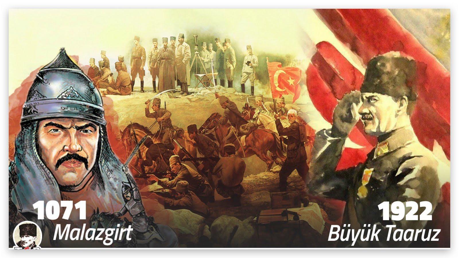 🇹🇷 Türk Dili, Tarihi ve Kültürü 🇹🇷: 🇹🇷 ⚔️ Malazgirt Zaferi (1071) ve 🇹🇷⚔️Büyük Taarruz (1922) 🧿🧿🧿