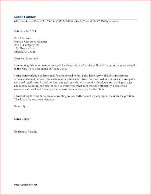 Contoh Surat Lamaran Kerja Kasir Dan Contoh Cv Kasir Alfamart Indomaret Rumah Sakit Restoran