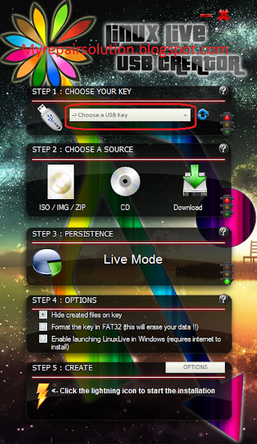 interface Linux Live USB Creator