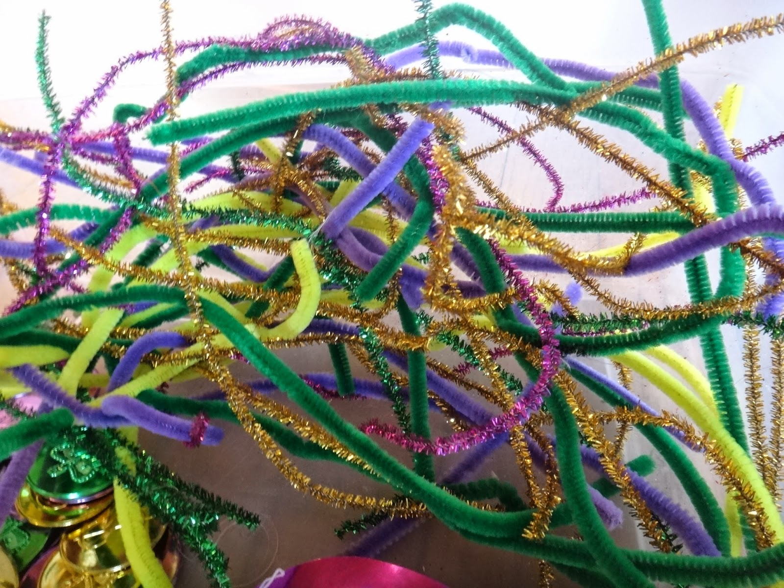 Little Stars Learning Preschool Mardi Gras Sensory Bin