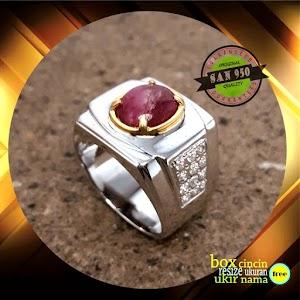 cincin perak pria P618DA