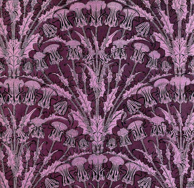 1903 ornament pattern in purple