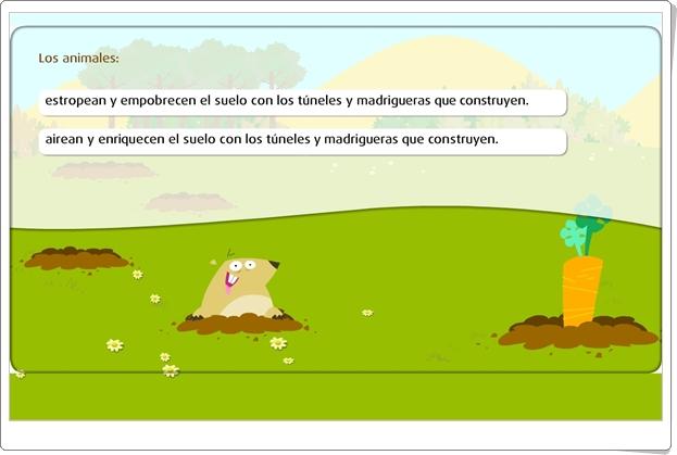 """""""El suelo y la fauna"""" (Juego de Primaria)"""
