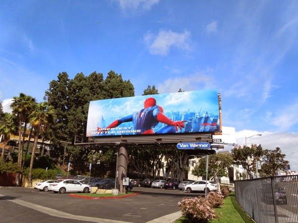 Amazing Spider-man 2 film billboard