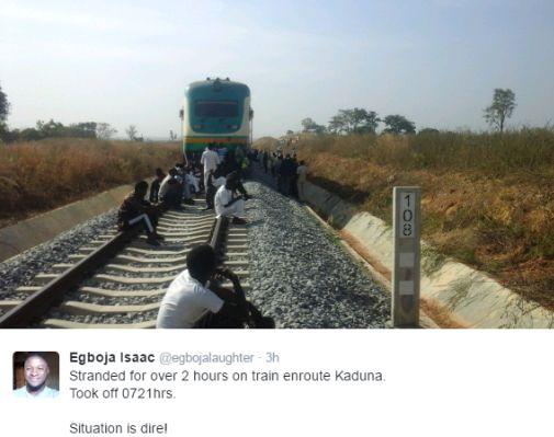 Really? Train from Abuja to Kaduna breaks down in the bush