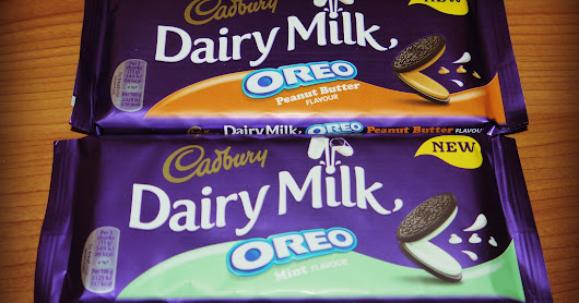 New from Cadbury Dairy Milk Oreo - Peanut Butter and Mint