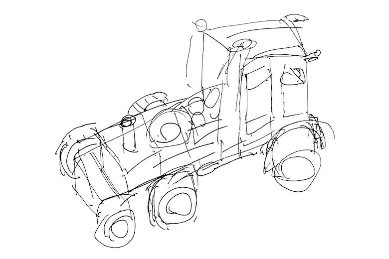 嘗試畫出靜態車子的練習
