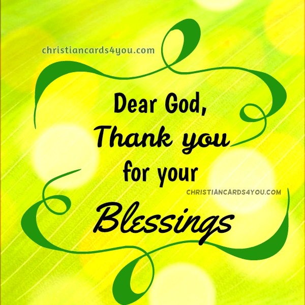 Lord Thank You For This Day Of Blessings Short Prayer