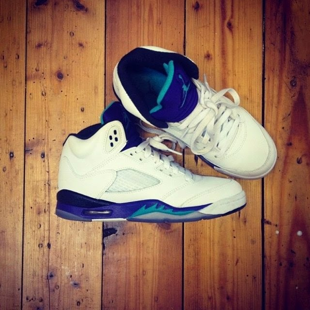 df36e4f861a32 Nike Jordan V- Grape White