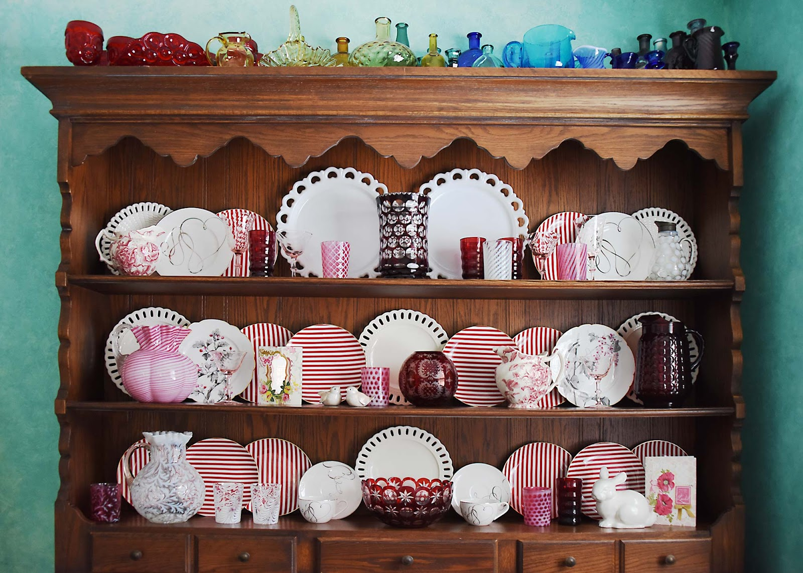 Valentine china hutch in Welsh Dresser cabinet