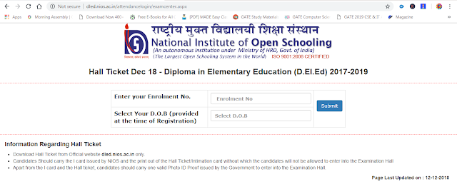 nios deled 506 507 admit card download